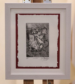 first framed etching using the laser ton