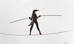 L'hirondelle sur un fil