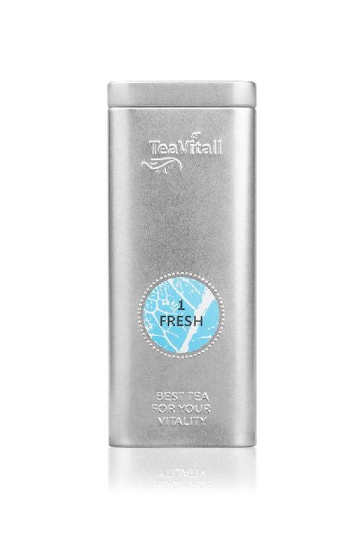 TEAVITALL FRESH 1, МЕТАЛЛИЧЕСКАЯ БАНКА 75 Г Чайный напиток очищающий