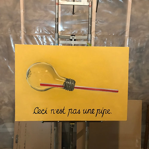 This Is Not a Pipe, Lightbulb (PAINTING)
