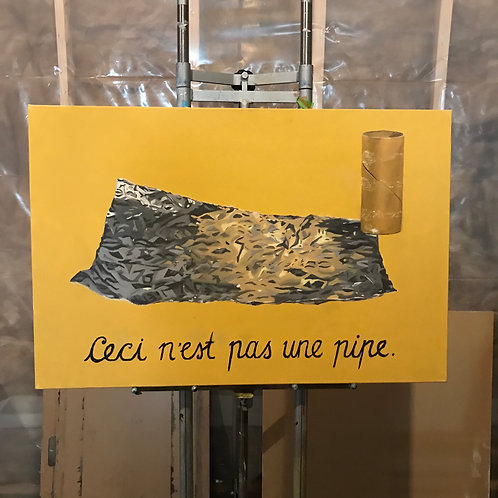 This Is Not a Pipe, Tinfoil (PAINTING)