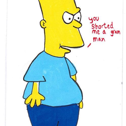 Old School Bart (DRAWING)