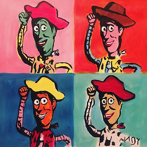 Four Woodies (PAINTING acrylic)