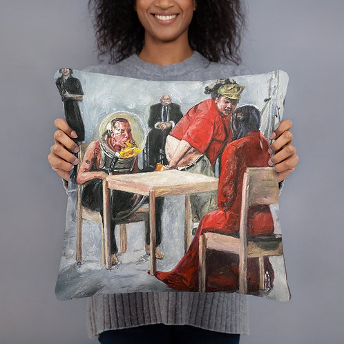 Steve O x Marina Abramovic Basic Pillow