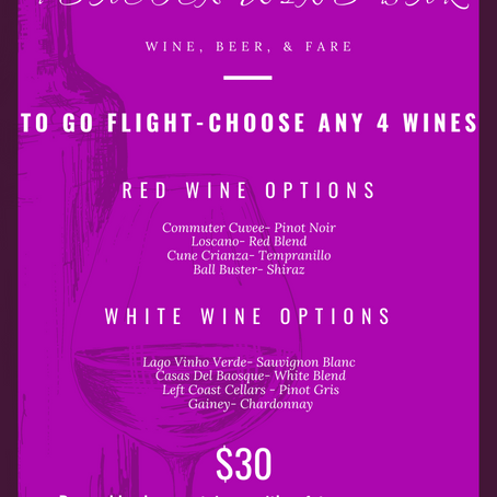 $30 Wine Flights To-Go