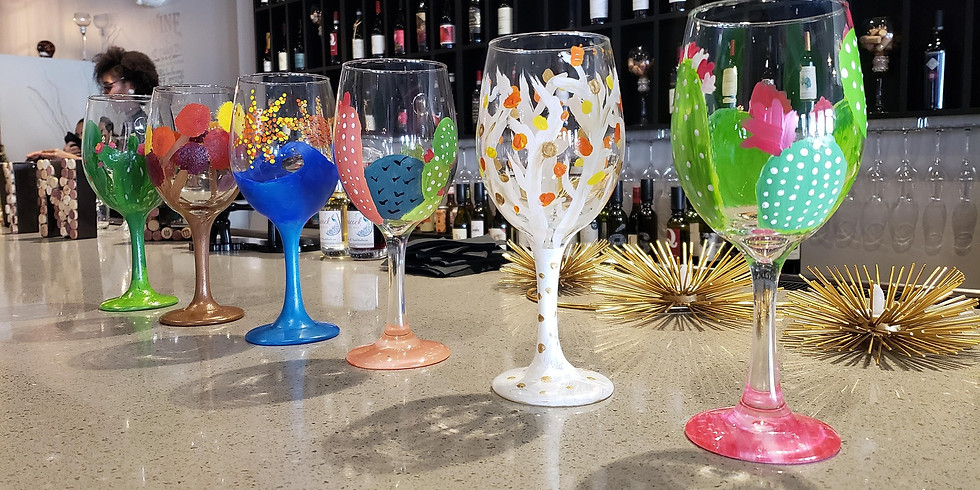Wine Glass Painting w/ Paint & Create AZ