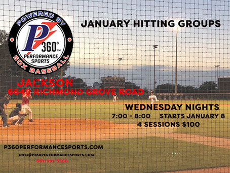 P360 Jackson Hitting Groups for January