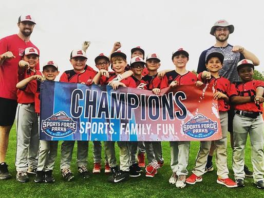 Sox 9U Team Celebrates First Tournament Win