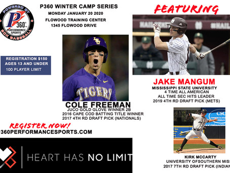 Jake Mangum Headlines P360 Winter Camp IIII