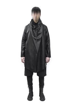 Black Over Jacket con cappuccio e zip