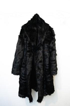 Ecopelliccia kimono total black