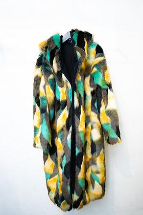 Ecopelliccia kimono multicolor