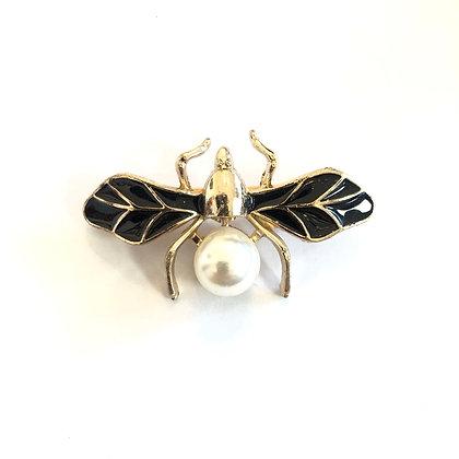 Spilla perla dragonfly