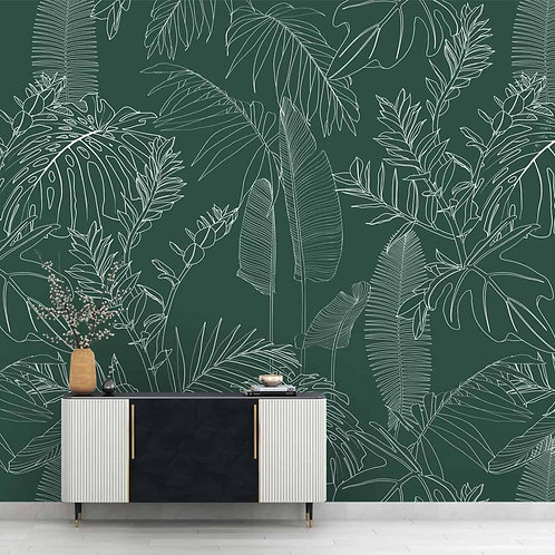 Tropical Wallpaper,  Green Background, Customise