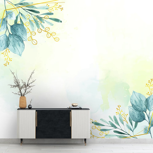 Subtle Water Color Painting Look Leaves Wallpaper