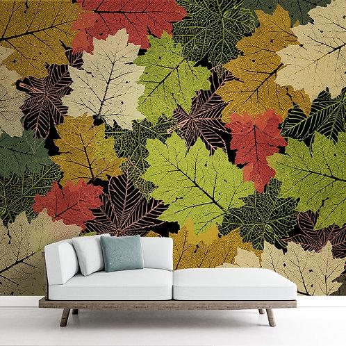 Colorful Green LeavesWallpaper, Customised