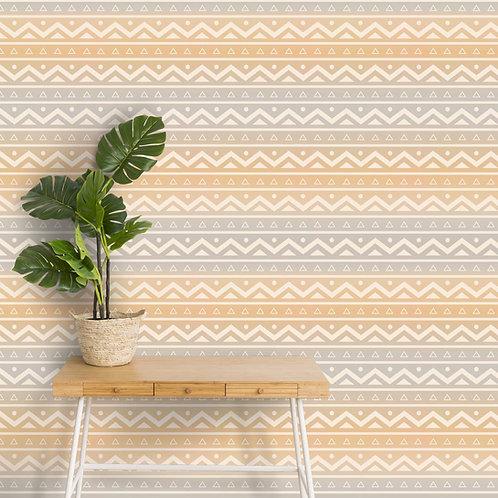 Ethnic Indian Wallpaper, Textile Print Design