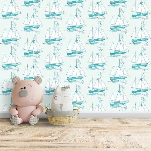 Ship, Light Blue Background Wallpaper, Customise