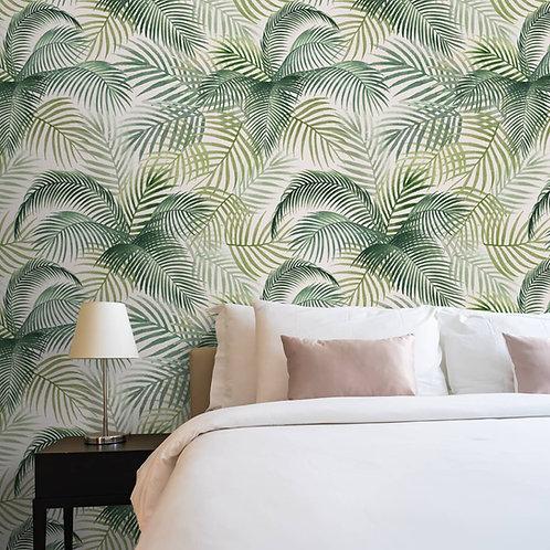 Tropical Wallpaper, Green Leaves, Customise