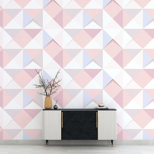 Pink, Blue, Grey Repeat Triangles