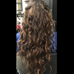 Long brunette sprial curls