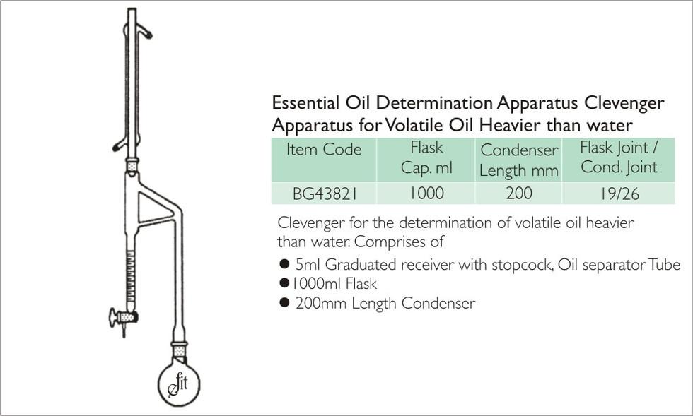 50-1 ESSENTIAL OIL DETERMINATION APPARAT