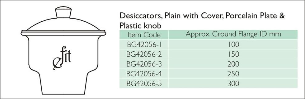 14-1 DESICCATORS, PLAIN WITH COVER, PORC