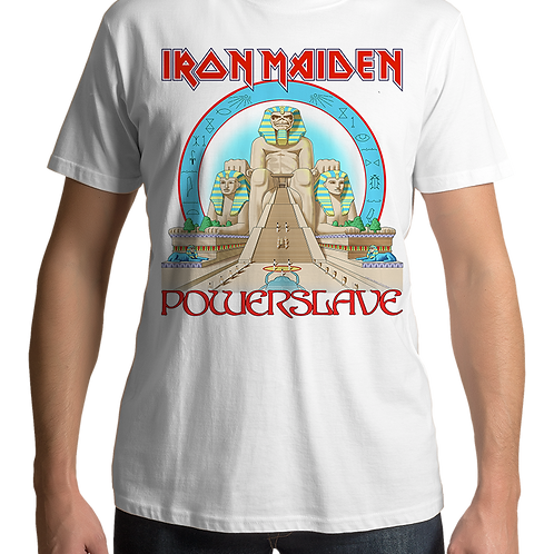 Iron Maiden - Powerslave (White T-Shirt)
