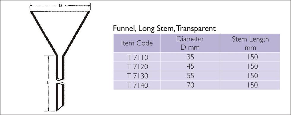 Funnel Long Stem
