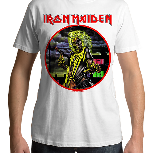 Iron Maiden - Killers (White T-Shirt)