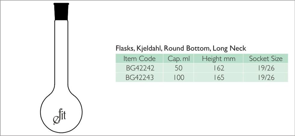 29-2 FLASKS, KJELDAHL, ROUND BOTTOM, LON