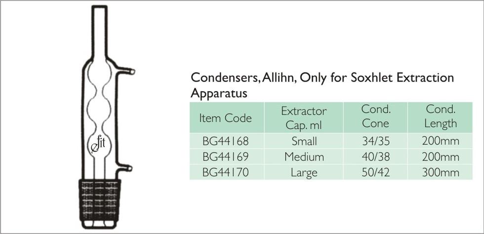 52-5 CONDENSER ALLIHN FOR SOXHELT EXTRAC