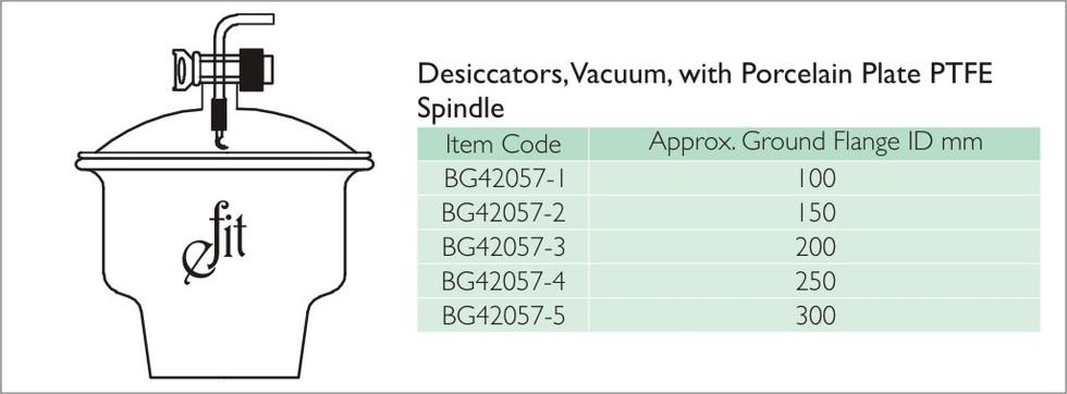 14-2 DESICCATORS, VACUUM, WITH PORCELAIN
