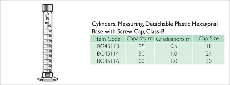 59-1 CYLINDERS, MEASURING, DETACHABLE PL