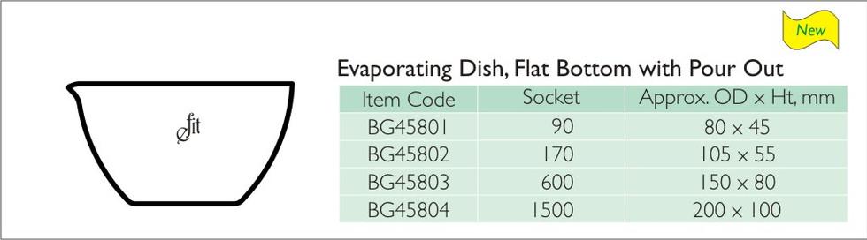 74-2 EVAPORATING DISH, FLAT BOTTOM WITH