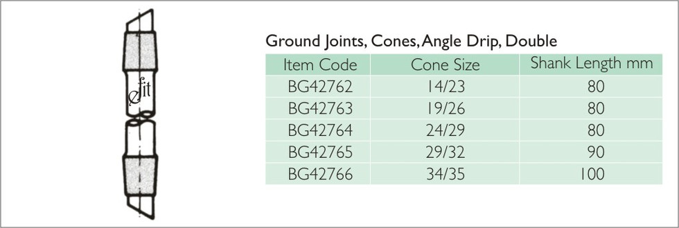 35-6 GROUND JOINTS, CONES, ANGLE DRIP, D