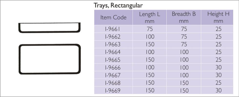 Trays Rectangular