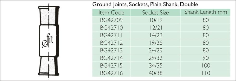 35-2 GROUND JOINTS, SOCKETS, PLAIN SHANK