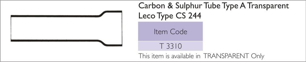 Carbon Sulphur Tube Type A