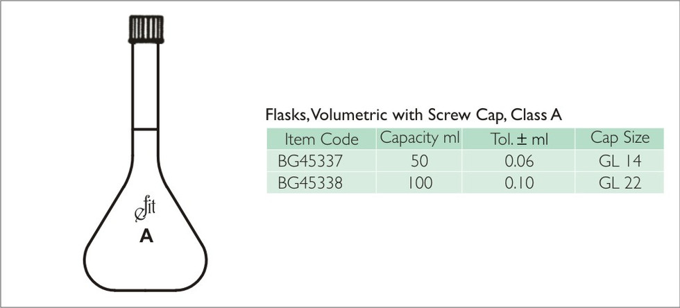 72-2 VOLUMETIRIC FLASK WITH SCREW CAP, C