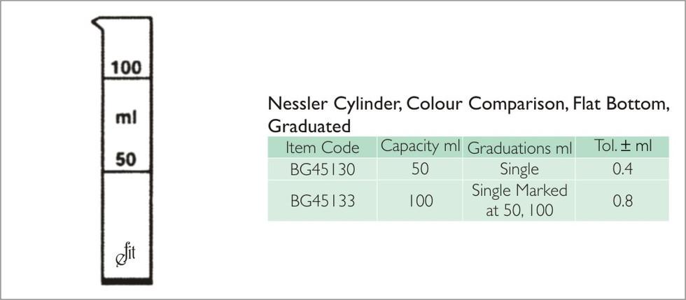60-1 CYLINDER, NESSLER, COLOUR COMPARISO