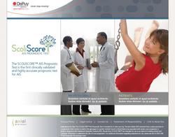 ScoliScore branding and website
