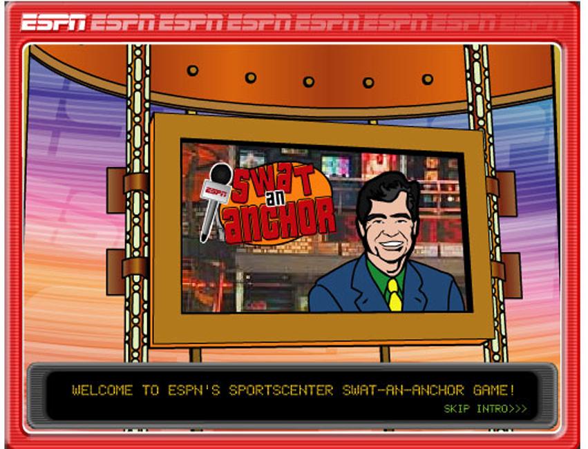 "ESPN ""Swat An Anchor"" Game"