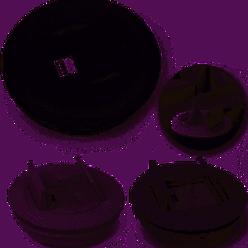 Caixa Embutir Redonda Cz 2 Saidas  (Vazia Q-TMOV