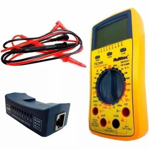 Testador de Cabos MultitocTX 2500 RJ/4511BNC Localizador