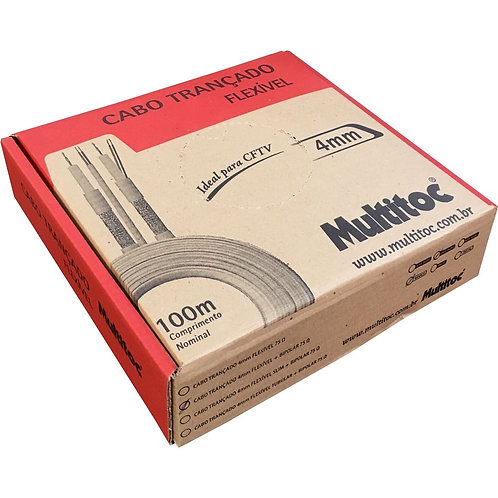Cabo Trans 4mm 2x26 Awg 75 Cftv 80% Multitoc
