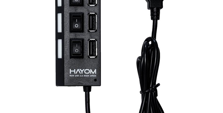 Hub  USB 2.0  4 Portas  Hayom