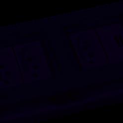 Caixa RetangularEmbutir 4 Blocos Cz (Vazia) Q-TMOV