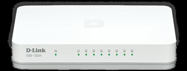 Switch Gigabit 8 portas - Dlink