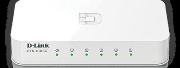 Switch Fast-Ethernet 5 portas DES-1005C D-Link